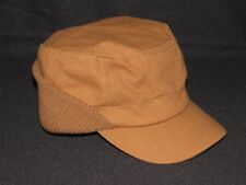 New Crowncap DRY ICE Winter Cap Hat Brown with Ear Flaps Size L / XL