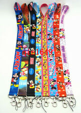 Lot of 10pc Mickey Minnie Mouse Mobile Phone LANYARD Neck Strap Charms ID Holder