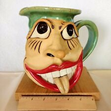 Pitcher- Pottery- Mugly With Happy Face - Handmade-One of kind-Signed-Numbere