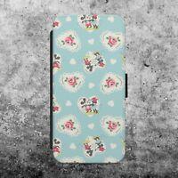 Disney Vintage Minnie Mouse Floral  FLIP WALLET PHONE CASE COVER iPhone SAMSUNG