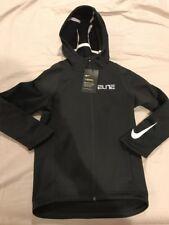NWT Boys Nike Therma Hoodie, Black, Full Zip, Size X Small, Dri-Fit, Elite, New