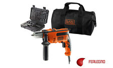 TRAPANO 710W CON PERCUSSIONE + BORSONE + 32 ACCESSORI BLACK&DECKER ART.92335
