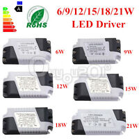 LED Driver 9/12/15/18/21W Power Supply Dimmable Transformer Waterproof LED Light