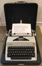 Vintage 1970 Olympia SM9 Typewriter Rare Special Keys & Black Case Germany Mint!