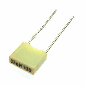 33nF 0.033uF 100V MKT AC and Pulse Film-Foil Capacitors