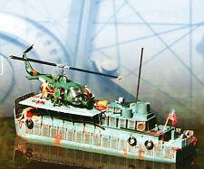 Model Boat PLAN US Vietnam craft Armoured Troop Carrier Helicopter Printed PLAN