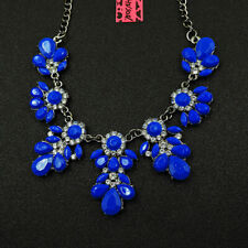 Betsey Johnson Fashion Jewelry Beauty Blue Gemstone Choker Necklace