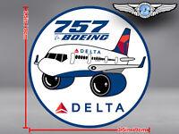 DELTA AIR LINES ROUND PUDGY BOEING B757 B 757 DECAL / STICKER