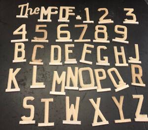 Vintage Metal Slide Letters & Numbers Mailbox Toppers