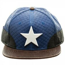 OFFICIAL MARVEL COMICS - CAPTAIN AMERICA STEALTH PU SNAPBACK CAP (BRAND NEW)