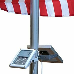 ALPHA 180X Flag Pole Light (Warm White LED) for Solar Flagpole Lighting/Cast Iro
