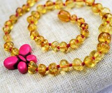 Baby Amber Necklace. 100% Genuine Baltic Amber. Baby Necklace.