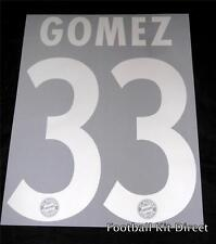 Bayern Munich Gomez 33 2012/13 Liga de Campeones Camiseta De Fútbol nombre conjunto de plata