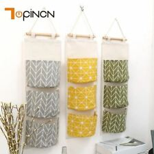 3 Pockets Hanging Organizer Kitchen Bathroom Sundries Storage Bag Closet Organiz