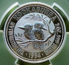 Australia 1994 $2 Silver Kookaburra Pair PCGS MS69 Nice Silver Coin ↑Size Holder