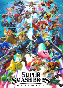 Super Smash Bros Ultimate Poster Nintendo Wall Decor Art Print Poster A3 A4 5x7
