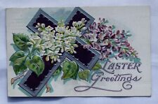Vintage Postcard; Easter Greetings; Stamped 1915