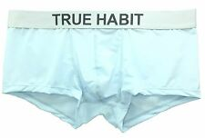 $65 TRUE HABIT Mens STRETCH UNDERWEAR BLUE BOXER BRIEF MICROFIBER TRUNK SIZE L