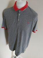 Mens Ted Baker Polo Shirt Grey Geometric Termoil 6 Xxl 2xl 44 Chest