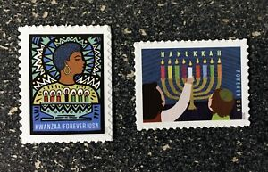 2020USA #5530-5531 Forever - Hanukkah & Kwanzaa  Set of 2 Singles Mint christmas