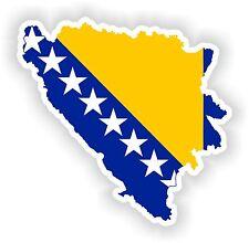 Bosnien Herzegovina LandKarte Flagge Aufkleber Silhouette Motorrad Auto Helm