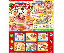 Dollhouse miniature Re-ment Sanrio Hello Kitty Birthday Party Cake & Drink 6PCS