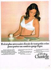 PUBLICITE ADVERTISING 014   1975   CHANTELLE  soutien gorge petits seins