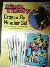 New Vintage Super Rare Htf Sealed Cheap Crafthouse Dick Tracy Crayon By Number