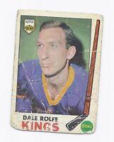1969-70 OPC  # 100 KINGS DALE ROLFE CARD