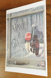 (PRL) COCA-COLA COCA COLA COKE POSTER CARTA VINTAGE A4 COLLEZIONE QUADRO NEW NEU