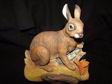 WILD HARE Bunny RABBIT FIGURINE ANDREA BY SADEK OF JAPAN #5807 MINT!