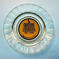 Vintage Four Queens Hotel Casino Ashtray Las Vegas Nevada Clear Glass Pie Crust