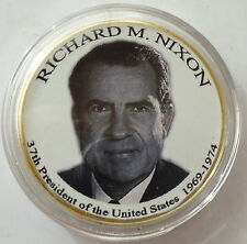 Richard Nixon    24K GOLD  PLATED MEMORABILIA COIN #1