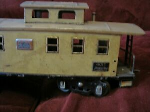 1920's American Flyer 4011 Yellow Caboose