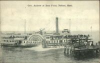 Nahant MA Steamer Governor Andrews at Bass Point c1910 Postcard