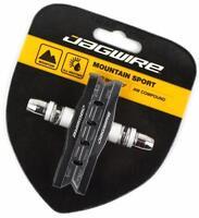 Jagwire Mountain Sport Brake Pads Shoes Threaded Stem MTB Bike All-Weather Black
