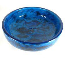 Bitossi Keramik Schale Aldo Londi Design Fischdekor Italy Pottery Bowl 24,5cm