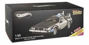 1:18 Back to the Future Time Machine w/Hoverboard -- Hot Wheels Elite DeLorean