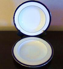 Lenox Federal Cobalt Platinum Rim Soup/Pasta Bowls x2 Platinum Trim