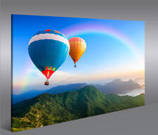 Bild auf Leinwand Balloons Heißluftballon über Landschaft 1p Wandbild