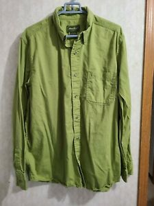 Eddie Bauer Long Sleeve Button Front Shirt Size Large