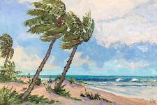 ATLANTIC BREEZE Original Seascape Ocean Expression Oil Painting 20x30 032520 KEN