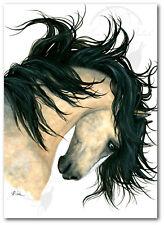 MM162 Majestic Buckskin Dun Horse Spirit - Hand Signed Bihrle Art Print 16x20