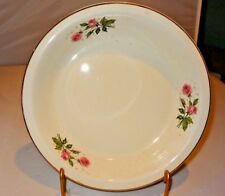Hall Superior Quality Kitchenware Pie Plate Heather Rose Collection Dinnerware