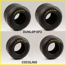 1 Satz Kart  DUNLOP DF2    Reifen 4,60 + 7,10  tyre  slics  für Felgen