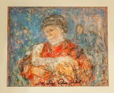 Edna Hibel - Carrying a Lamb  - 13 x 11 - SIGNED