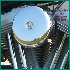 Complete Smooth Chrome Bobber Style Air Cleaner for Sportsters