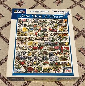 """White Mountain """"State Birds and Flowers"""" 1000 piece Jigsaw Puzzle"""