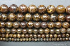 Natural Bronzite Jasper Gemstone Round Beads 4mm 6mm 8mm 10mm 12mm 14mm 15.5