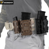 IDOGEAR Mag Pouch 5.56 9mm Tactical Fastmag MOLLE Mag Carrier Soft Shell Airsoft